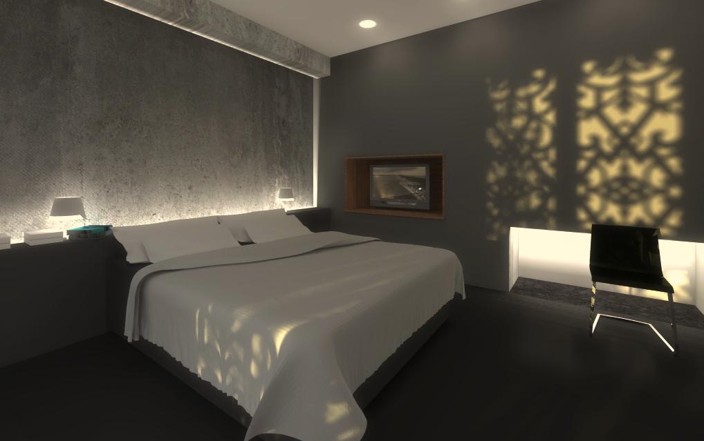 pokoj hotelowy:wizualizacja